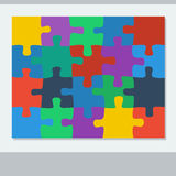 Puzzle of twenty pieces Royalty Free Stock Photo