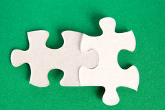 Puzzle two pieces Stock Photography