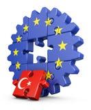 Puzzle UE e Turchia Fotografia Stock Libera da Diritti
