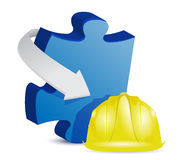 Puzzle under construction Royalty Free Stock Photo