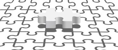 Puzzle under puzzle pattern Royalty Free Stock Photography