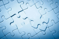 Puzzle unfinished Stock Image