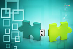 Puzzle usb Royalty Free Stock Photography