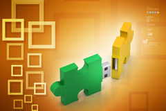 Puzzle usb Stock Photos
