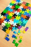 Puzzle variopinti Immagini Stock