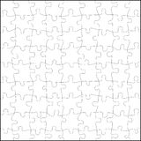 Puzzle vector. A square empty puzzle in black and withe Stock Photos