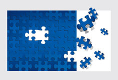 Puzzle (vector). Puzzle (editable vector or XXL jpeg image Stock Photo