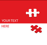 Puzzle vector background with red difference Stock Images
