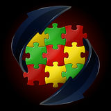 Puzzle vector illustration. With place for your text royalty free illustration