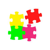 Puzzle. Vector illustration in flat style Stock Photos
