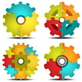 Puzzle. Vector illustration of gears made of puzzle Vector Illustration
