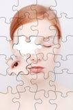 Puzzle. Verticale de la femme Photos libres de droits
