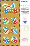 Puzzle visivo con i cubi piegati Fotografie Stock Libere da Diritti