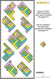 Puzzle visuel abstrait - comment est-il allé ? illustration stock