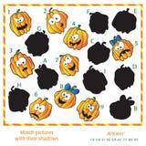 Puzzle visuel - assortissez les photos au leur Image stock