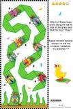Puzzle visuel avec des scarabées et des insectes illustration de vecteur