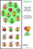 Puzzle visuel de logique d'insectes et de scarabées illustration libre de droits