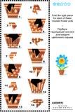 Puzzle visuel - pots et fragments de match Images stock