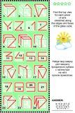 Puzzle visuel - trouvez la vue supérieure des cubes avec des wireframes Images stock