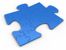 Puzzle vom Puzzlespiel Stockfotografie