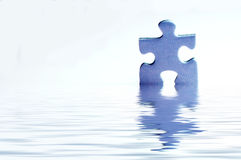 Puzzle in water royalty free stock photography