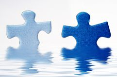 Puzzle in water Royalty Free Stock Images