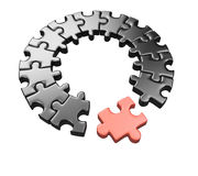 Puzzle wheel Stock Images