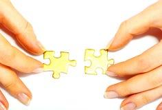 Puzzle on white Royalty Free Stock Image