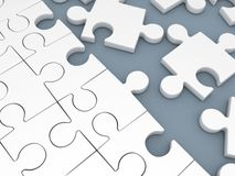 Puzzle white Royalty Free Stock Images