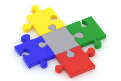 Puzzle on White Stock Photo