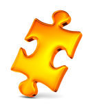Puzzle on white background. 3D image Royalty Free Stock Image
