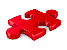 Puzzle on white background. 3D image Stock Photography