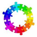 Puzzle on white background Royalty Free Stock Image