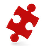 Puzzle on white background. 3D image Royalty Free Stock Images