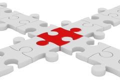 Puzzle on white background Stock Image