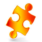 Puzzle on white background Stock Images