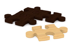 Puzzle on white background Royalty Free Stock Image