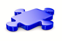 Puzzle on white background. Isolated 3D Royalty Free Stock Photography