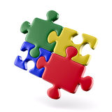 Puzzle on white background. Isolated 3D Royalty Free Stock Images