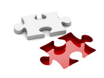Puzzle on white background. Isolated 3D Royalty Free Stock Photo