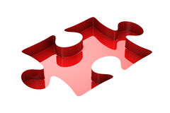 Puzzle on white background. Isolated 3D. Image Royalty Free Stock Photo
