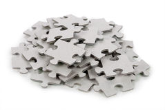 Puzzle on white background Stock Photography
