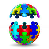 Puzzle on white background. Isolated 3D. Image Royalty Free Stock Photos