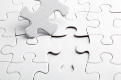 Puzzle white pieces Royalty Free Stock Images