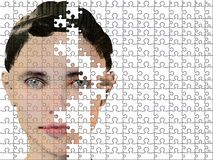 Puzzle woman Royalty Free Stock Photo