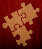 Puzzle - Wood Version 2. There are three plugs of a wood puzzle Royalty Free Stock Photos