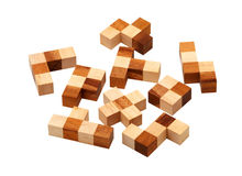 Puzzle of the wooden bars Royalty Free Stock Photos