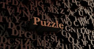 Puzzle - Wooden 3D rendered letters/message Stock Photos