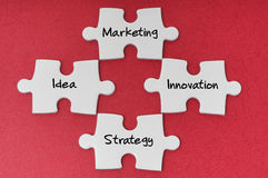 Puzzle With Word - Business Concept Royalty Free Stock Photo