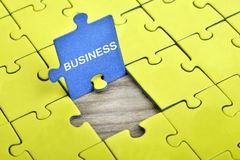 Puzzle with word Business Stock Image